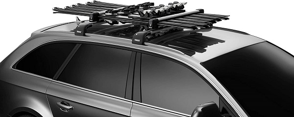 how to transport snowboard on car rack